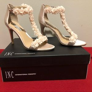 INC Rosiee Satin T-strap shoes